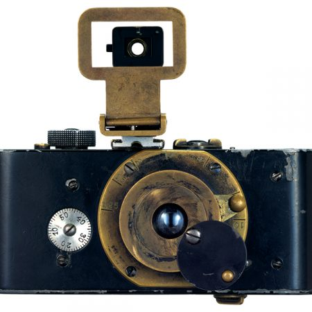 Model Ur Leica built by Oskar Barnack in 1914. Leica Camera AG.