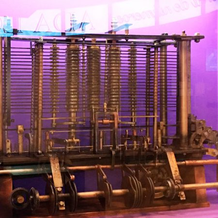 Reproduction of a fragment of The Analytical Engine currently being exhibited at the Science Museum in London.