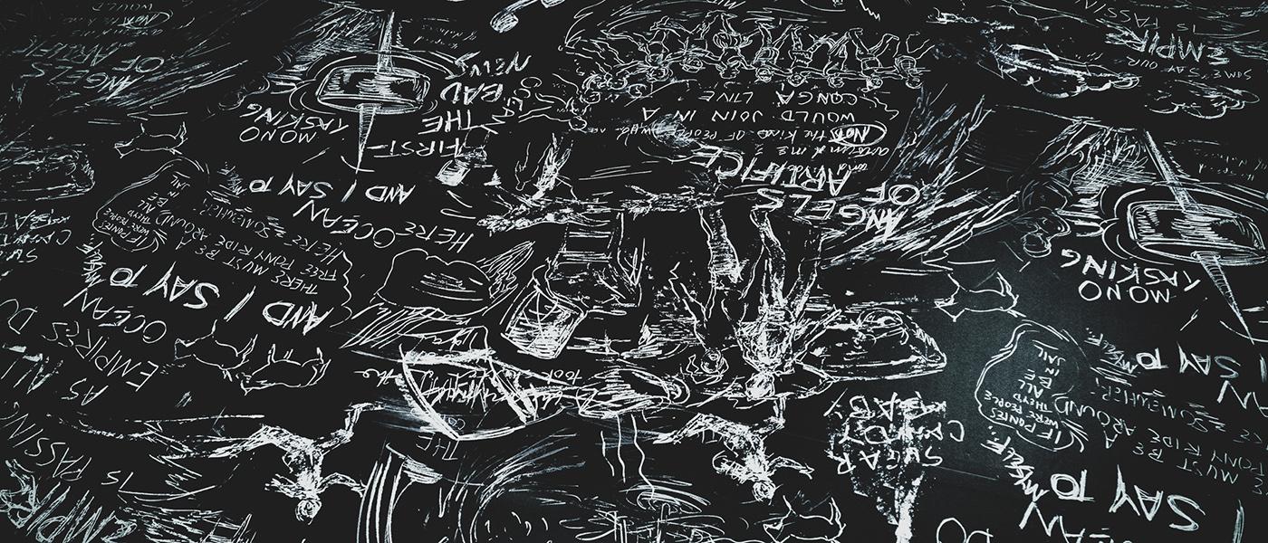 Image result for imagem da exposiçao de Laurie Anderson, Chalkroom, em Madri