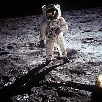 Astronut Buzz Aldrin on the Moon