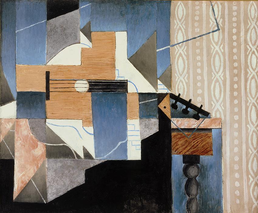 La guitare sur la table ; Gris, Juan, 1913 ©ColecciónTelefónica