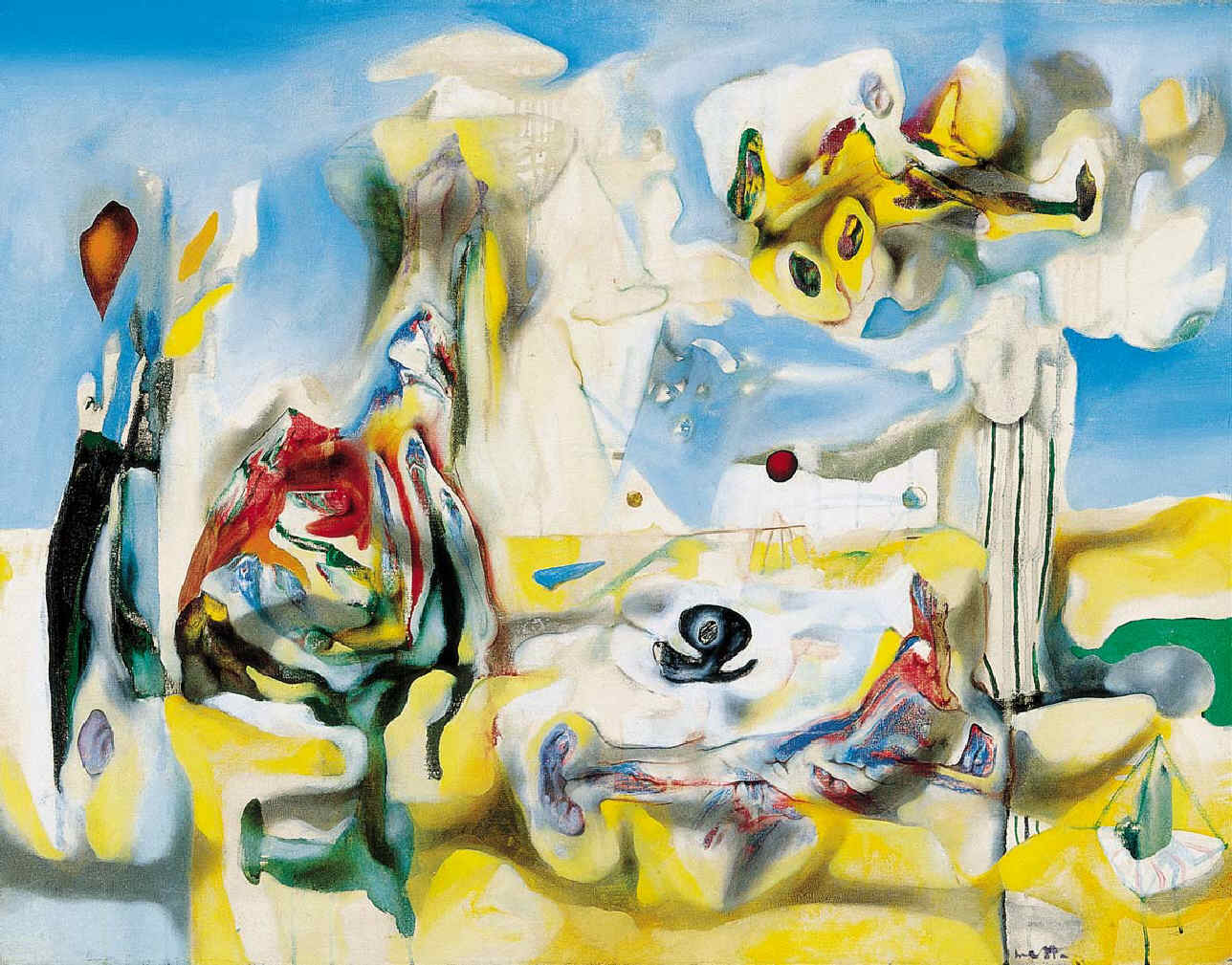 """Psychological Morphology "" de Roberto Matta© Matta, VEGAP, Madrid, 2019."