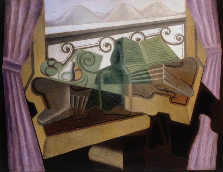 Juan Gris. Cubismo. La fenêtre aux collines
