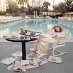 Faye Dunaway el día siguiente a recibir el Óscar (Beverly Hills, 1977)