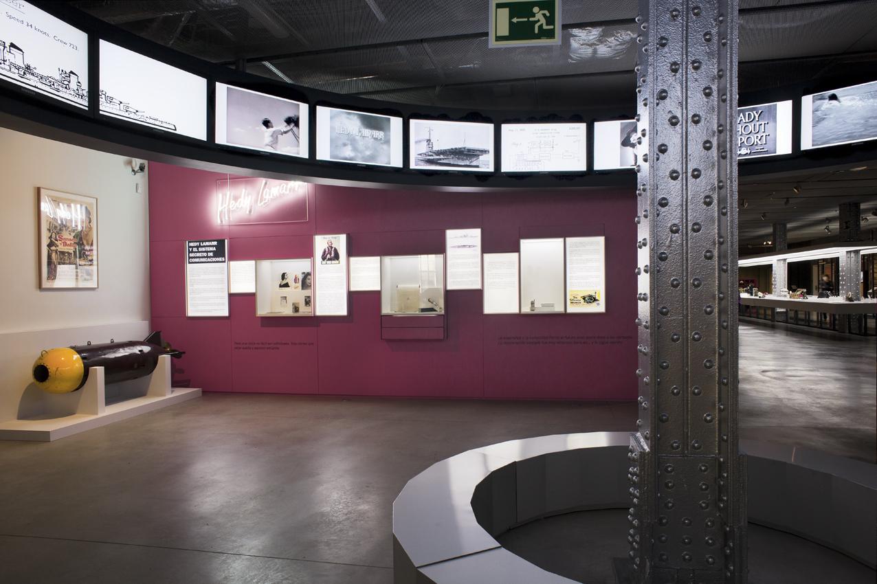 Efemérides de Hedy Lamarr en la planta 2 del Espacio Fundación Telefónica