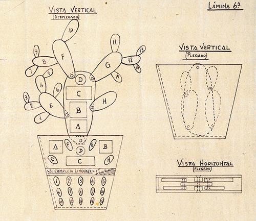 """Libro mecánico """"cactus"""" Archivo de los herederos de Ángela Ruiz Robles"""