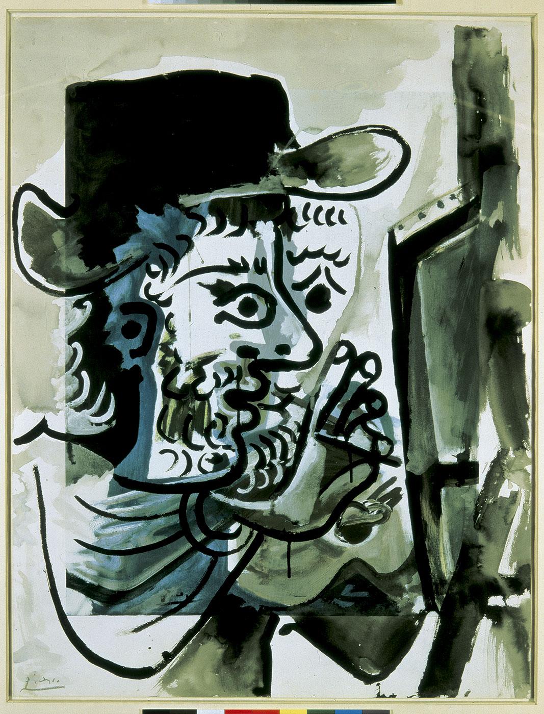 Pablo Picasso. Le peintre au travail, 1964. © Sucesión Pablo Picasso, VEGAP, Madrid, 2016.