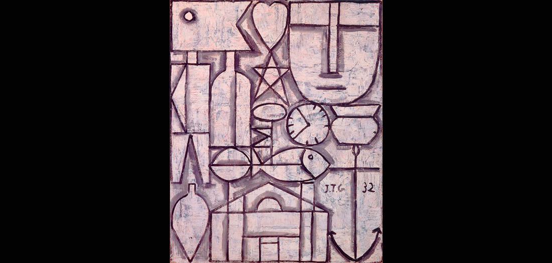 Joaquín Torres-García (Uruguayo. 1874–1949). Arte constructivo. 1932. Óleo sobre cartón. Colección privada, Suiza. © Sucesión Joaquín Torres-García, Montevideo 2016.