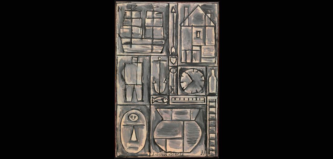 Joaquín Torres García (Uruguayo, 1874–1949). Composition. 1931. Óleo sobre lienzo. The Museum of Modern Art, New York. Gift of Larry Aldrich, 1956. © Sucesión Joaquín Torres-García, Montevideo 2016. Foto: Thomas Griesel