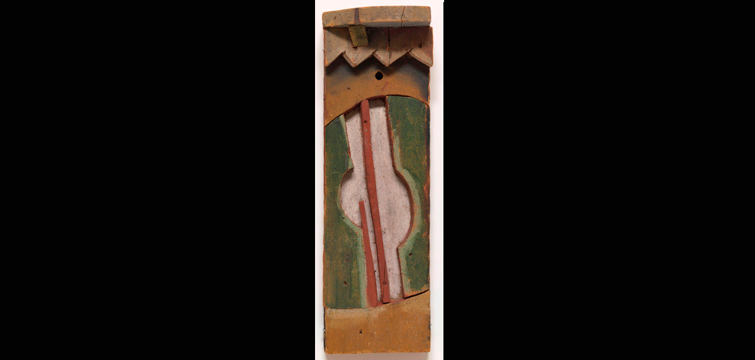 Joaquín Torres García. (Uruguayo, 1874–1949). Guitarra. 1924. Madera pintada.. The Museum of Modern Art, New York. Abby Aldrich Rockefeller Fund, 1981. © Sucesión Joaquín Torres-García, Montevideo 2016. Foto: Thomas Griesel