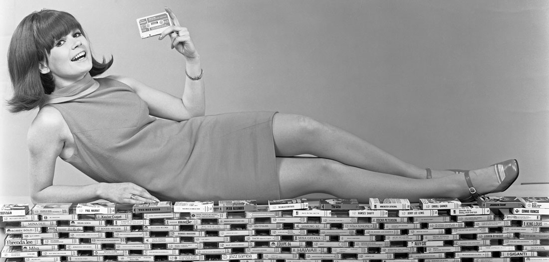 Audio cassettes advertising, 1968.
