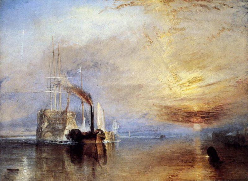 Joseph Mallord William Turner - El «Temerario» remolcado a su último atraque para el desguace