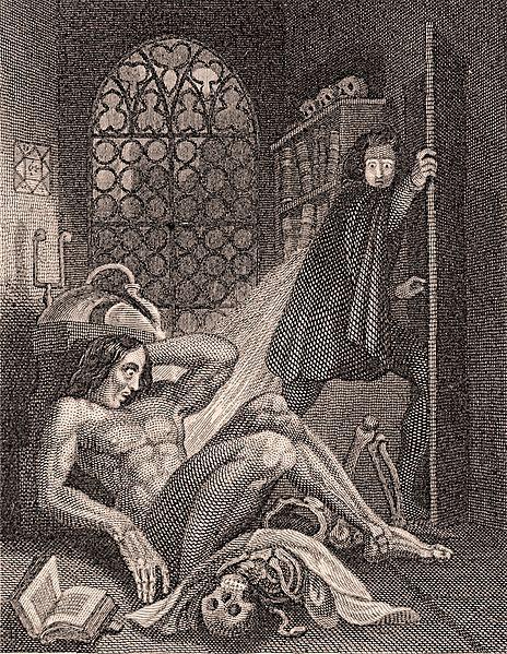 Ilustración de Frankenstein presente en la edición de 1831