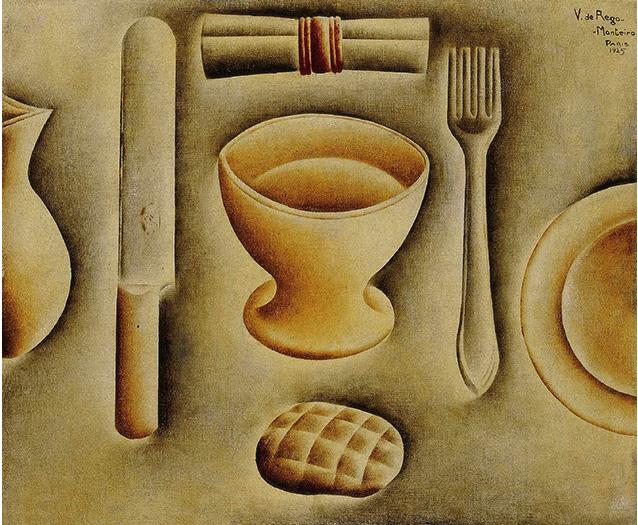 Os Talheres (Nature morte aux couverts) (1925), Vicente Do Rego Monteiro. Colección Telefónica.