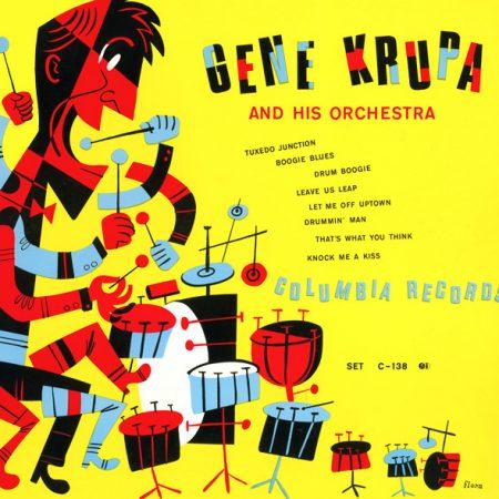 portada disco del baterista gene-krupa recording