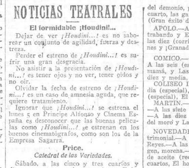 Heraldo de Madrid, 1920.