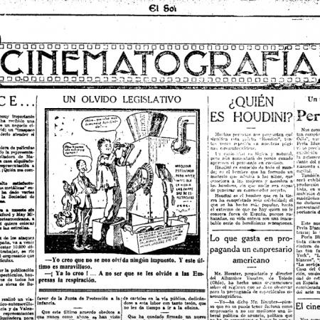 Diario El Sol, 1919.