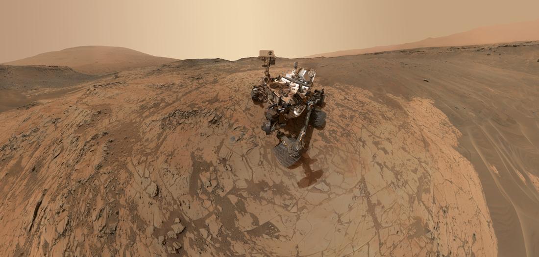 Curiosity Rover Portrait Mars Mojave Selfie MALHI.