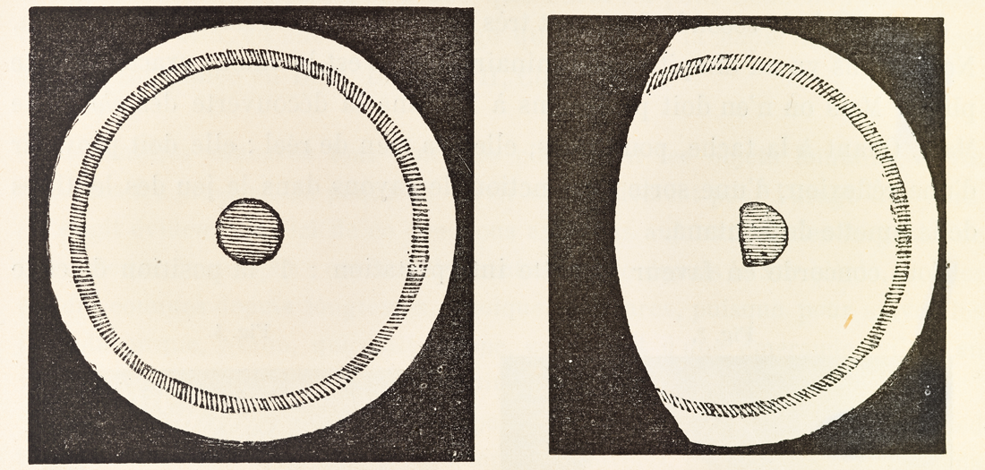 Dibujos de Marte de Fontana, 1659 y 1638. Del libro La Planete Mars et ses conditions dhabitabilite de Camille Flammarion. Ed Gauthier Villars et fils (Paris), 1892-1909.