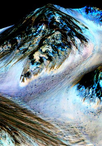 Evidencias de agua en Marte.