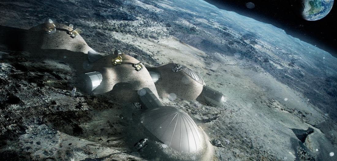 Habitáculos lunares (2012) © Foster+Partners