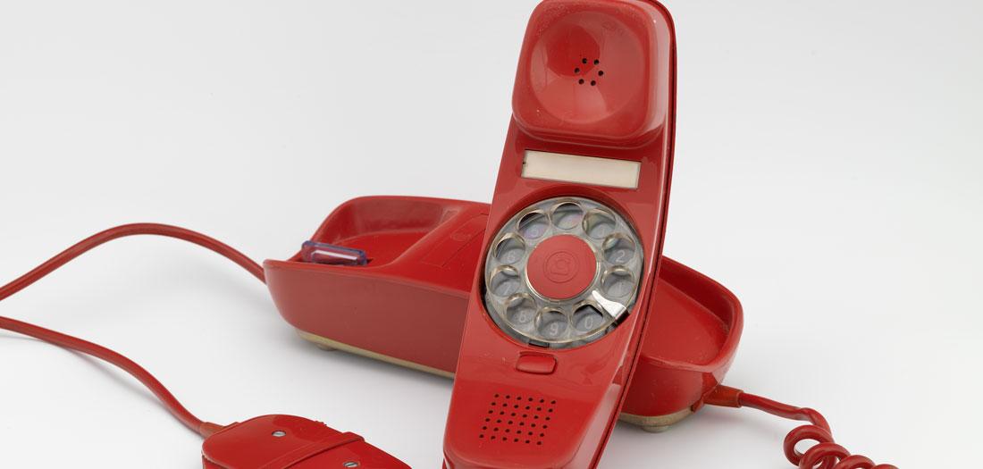 Teléfono automático Modelo Góndola, años 70.