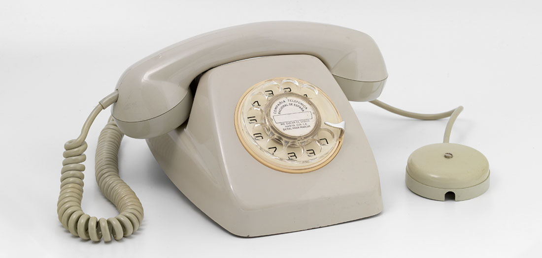Teléfono automático Modelo Heraldo, años 70.