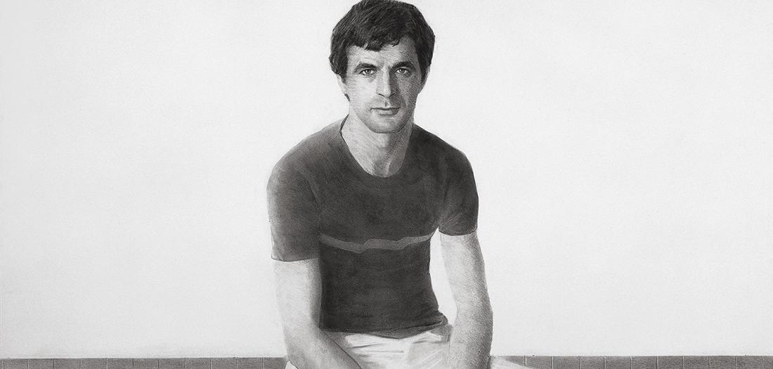Parte del tríptico sobre Carlos Solís, 1983. Carboncillo y lápiz/papel. Colección particular (Madrid).