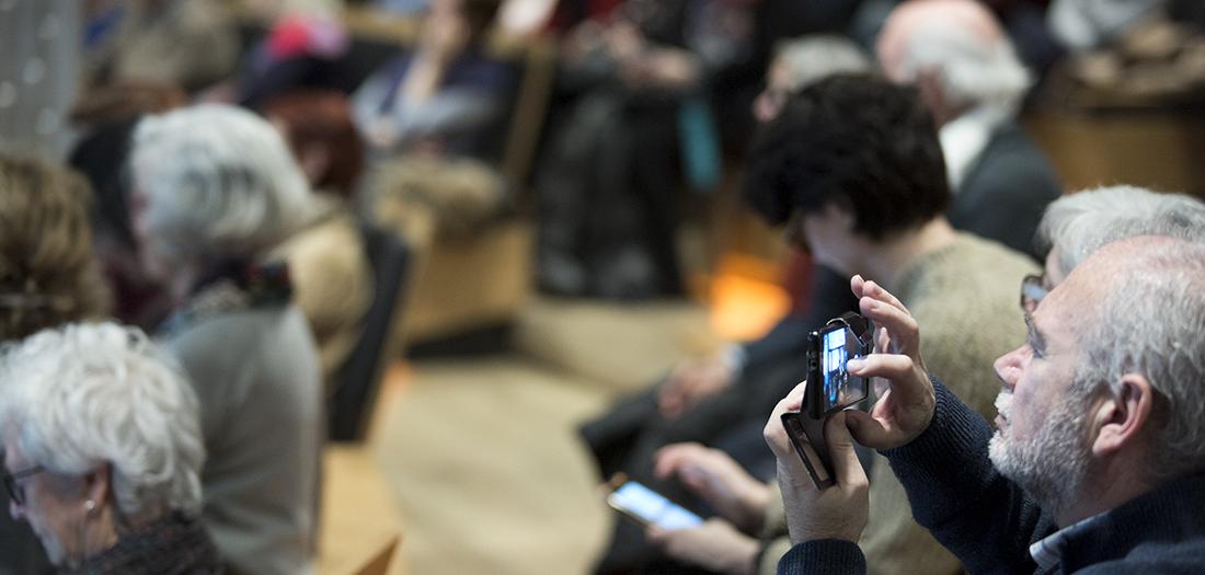 Fotos del encuentro entre los artistas.