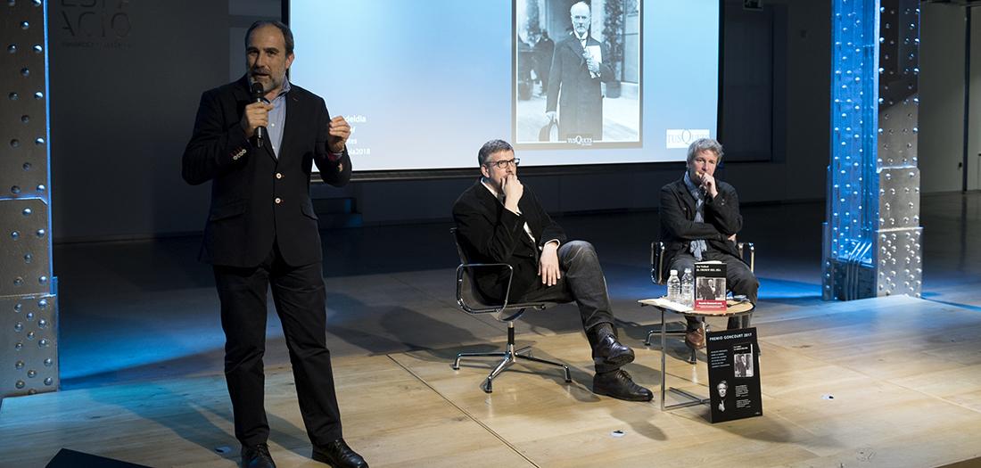 mágenes de la presentación de Éric Vuillard.