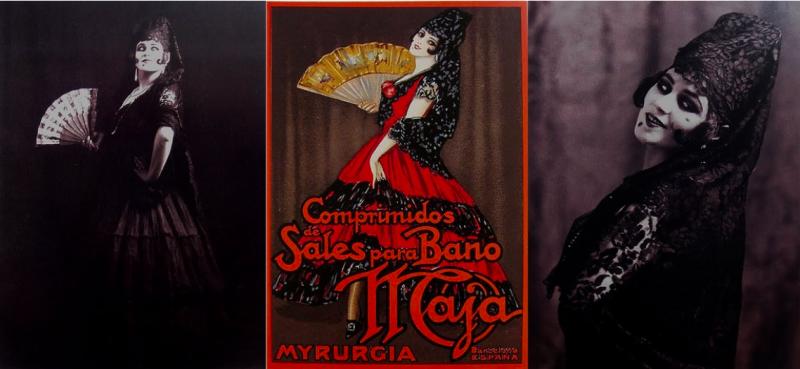 Tórtola Valencia, imagen de marca de la casa de Myrurgia. ©Centre de Documentación i Museu de les Arts Escèniques