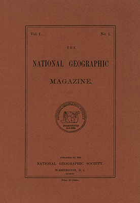 Primera portada de la revista National Geographic (1888)