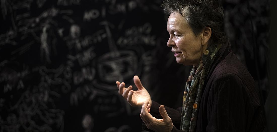 Laurie Anderson y su 'Chalkroom'.