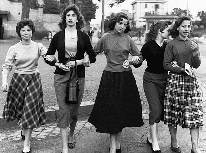 Group of young ladies, Rome 1956 ©William Klein