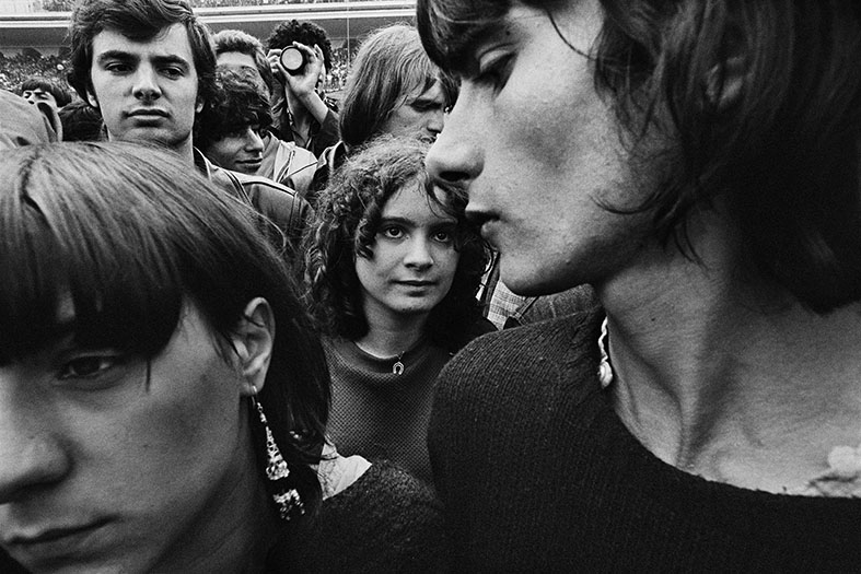 Rolling Stones concert, Hippodrome d'Auteuil, Paris, June 1982 ©William Klein