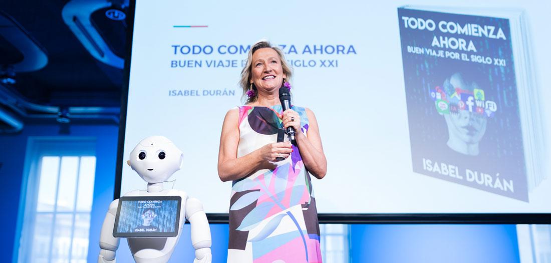 Isabel Durán presenta 'Todo comienza ahora. Buen viaje por el siglo XXI'