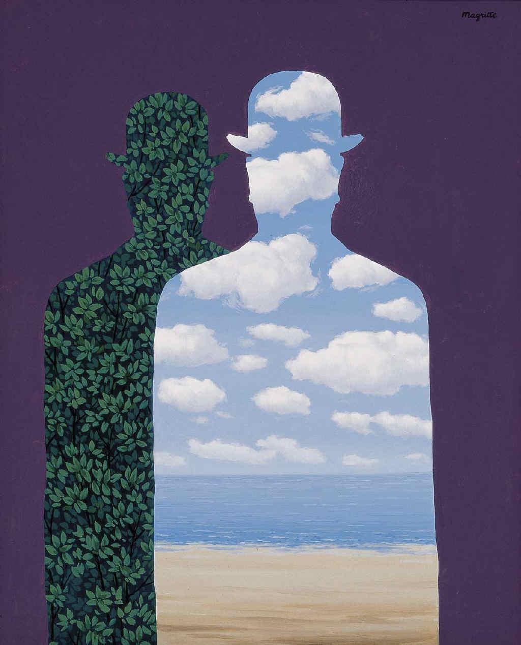 """""""La Belle Société """" de René Magritte:© René Magritte, VEGAP, Madrid, 2019."""