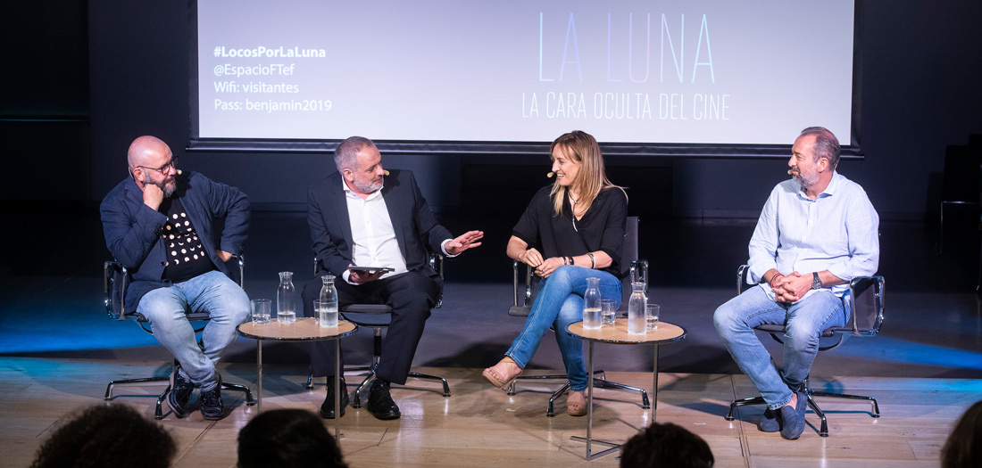 De izq a dcha: Javier Armentia, Miguel Parra, Eva Villaver, Jordi Gasull