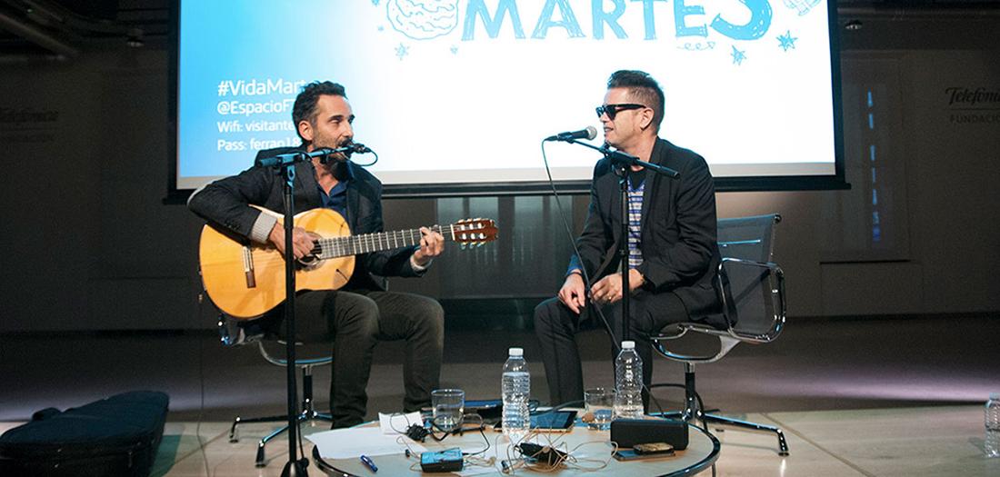 Jorge Drexler y Santiago Auserón en directo en nuestro auditorio.