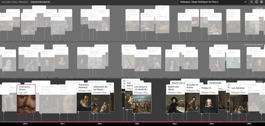 La 'Línea del tiempo', IA aplicada a las colecciones para conocer el contexto histórico, artístico, político y social. El proyecto que ha sido posible gracias a la colaboración de Telefónica, es una novedad a nivel mundial en el entorno de los museos.