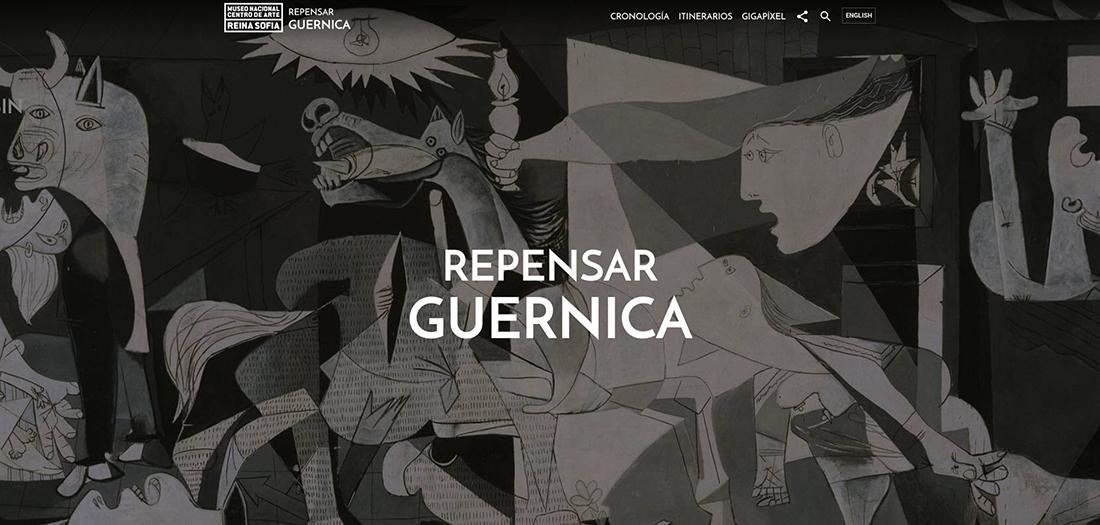 'Repensar Guernica', una web que recopila y presenta de forma abierta al público materiales relacionados con el famoso cuadro.