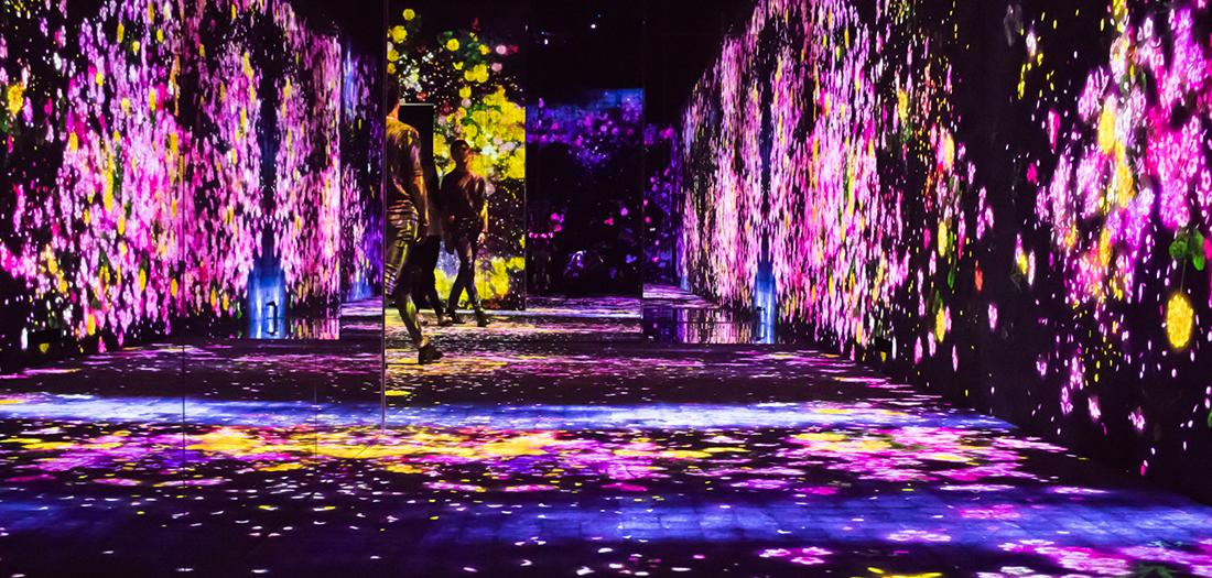 MORI Building DIGITAL ART MUSEUM: teamLab Borderless, una experiencia de arte digital afincada en la isla japonesa de Odaiba, Tokyo.