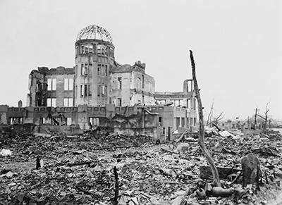 Hiroshima tras el bombardeo de 1945.