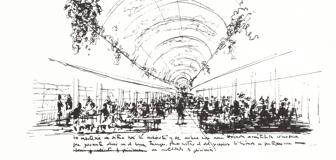 Julio Cano Lasso Dibujo. Tercera propuesta, Fuentelarreina.